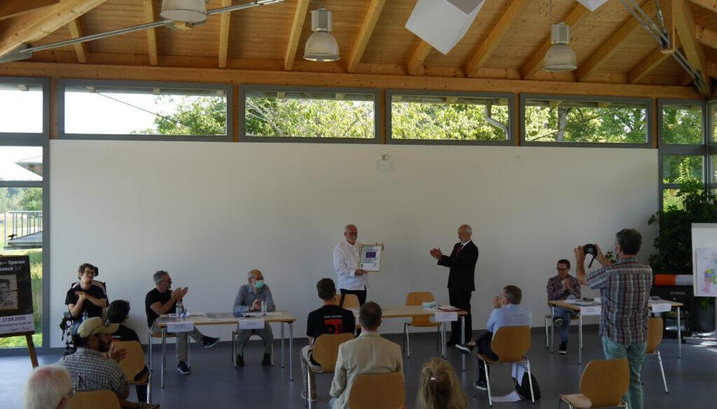 Foto zur PM Pressekonferenz Projekt Hierbleiben ... Spuren nach Grafeneck 29.07.2020 Bildnachweis LEADER Mittlere Alb